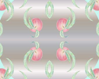 """Postcard """"Peaches with leaves"""""""