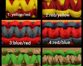 Paracord Survival Bracelet-Basic 2 colours