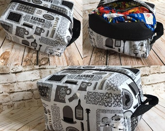 Barber shop diaper pod, diaper pouch, travel tote