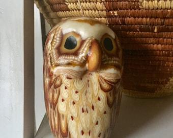 Vintage Handmade owl candle