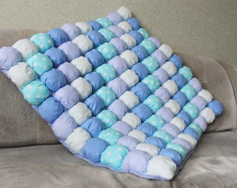 Baby Puff Quilt, Bubble Blanket, Baby Floor Mat