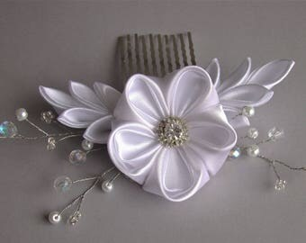 Wedding hair comb, Bridal combs headpieces, flower hair comb, crystal hair comb, floral hair comb, bridal hair piece, wedding hair piece