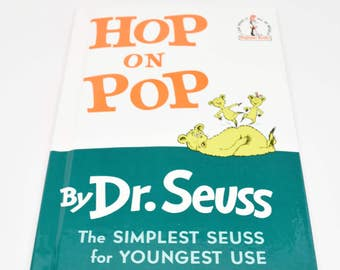 DR. SEUSS Hop On Pop Book ~ Father's Day Gifts ~ Dr. Seuss Beginner Books ~ Dr. Seuss Children's Books ~ Dr. Seuss ~ Dr. Seuss Books ~ Seuss