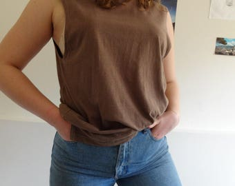 Urban Outfitters Pale Brown Sleeveless Tee