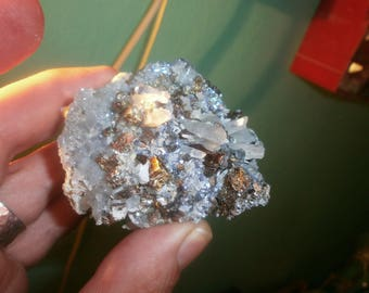 168g pyrite IRON PYRITE copper & quartz, rough mineral
