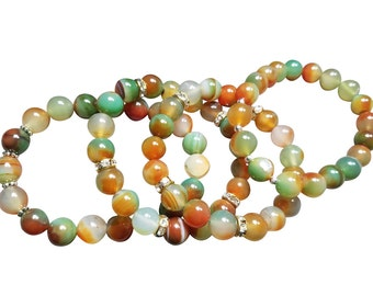 Natural Color Peafowl Agate Onyx Loose Beads