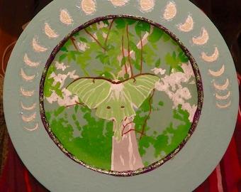 Luna Moth Plate