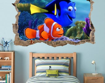 FINDING NEMO Smashed Wall Decal Graphic Wall Sticker Dory Disney H204