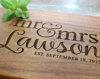 Personalized Cutting Board - Engraved Cutting Board, Custom Cutting Board, Wedding Gift, Housewarming Gift, Anniversary Gift, Engagement #36