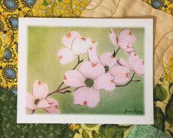 dogwood Note cards, flower note cards, blank note cards, dogwood thank you notes, dogwood greeting cards, note cards, original note cards