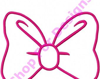 Minnie Bow Applique Design Bow Applique
