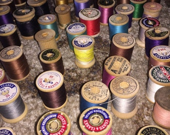 75 wooden spool thread