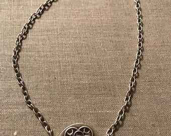 silver plated necklace no nickel no lead
