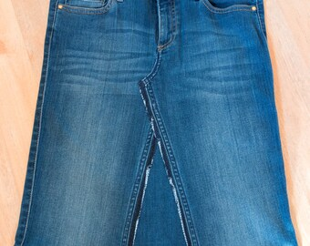 Jeans skirt Upcycling