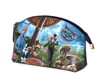 """Cosmetic bag """"In the footsteps of Alice"""""""