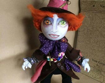 Hatter - doll of fairy tales about Alice by Lewis Carroll