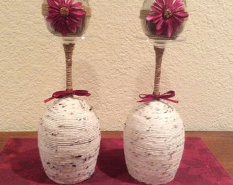 Home Decor Wine  Glass Candles