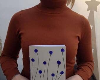 Notebook blue flowers