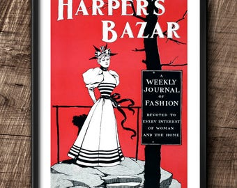Harper's Bazaar cover · 1890s · Instant Download · Fashion · Vintage · Victorian style · Printable #126
