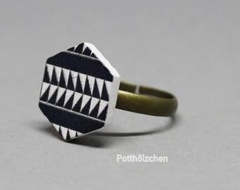 Aztec Ring Etsy