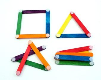 Velcro Popsicle Sticks Montessori Preschool Busy Bag
