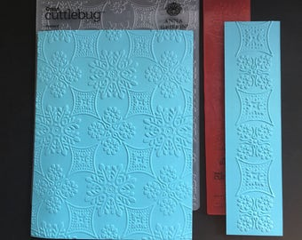 Cuttlebug Foulard Embossing Folder and Border Set / Border Folder / Card Making / Scrapbooking / Arts and Crafts