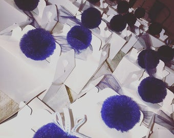 tulle pom poms party favours