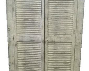Window shutter cabinet