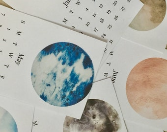2017 Moon Calendar, 2017 Printable Calendar, Wall Moon Calendar, 2017 Wall Calendar
