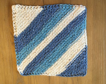 Blue stripes Washcloth, Dishcloth