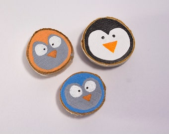 Owls and Penguin Magnets