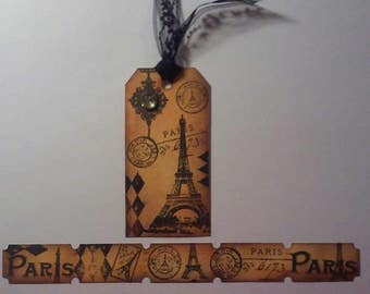 Paris Vintage Tag and Tickets Scrapbook Embellishments