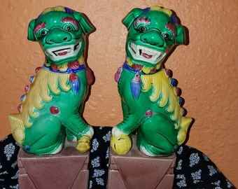 Vintage Chinese Foo Dog Statues