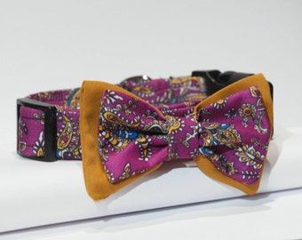 BOYSENBERRY - Designer Bow Tie Sienna Sanchez Dog Collar