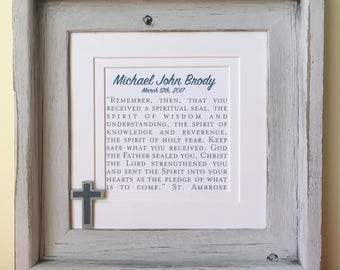 Confirmation Gift | Confirmation Gift for Girls | Confirmation Gift for Boys | Confirmation Gifts | Bible Verse or Phrase with Cross