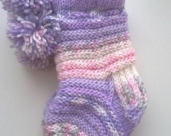 Knitted baby socks
