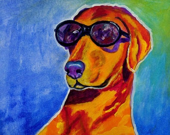 Rhodesian Ridgeback, Pet Portrait, Dog Art, Pet Portrait Artist, Colorful Pet Portrait, Rhodesian Ridgeback Art, Art Print, Art by Jodi Dodd