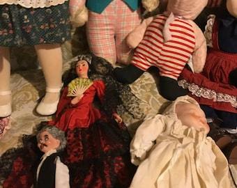 Lot of Vintage/Antique Dolls