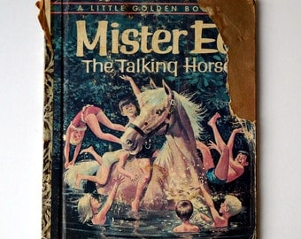 FIRST EDITION Mister Ed The Talking Horse Little Golden Book - 1962 - Vintage Children's Book Based on the Television Show