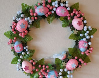 Easter egg and berries wreath
