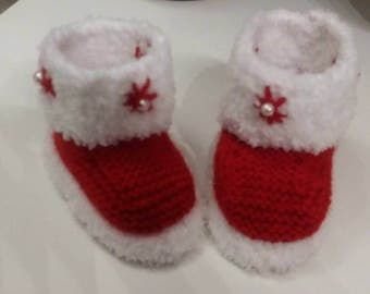 wool Christmas Baby Slippers