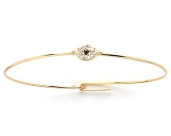 Evil Eye Petite Bracelet, Good Luck Jewelry