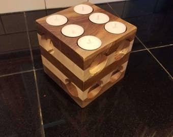 Tea Light Dice Candle Holder