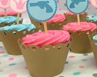 Cupcake Wrappers - Custom Polkadot Cup Cake Wraps - Scallop Covers