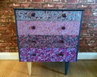 Decoupaged Retro Style Drawers