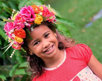 Color pop flower crown