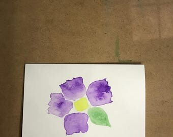 Flower Watercolor Card