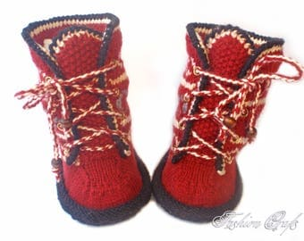 "Booties-uggs knitted ""Slavic motifs"",Booties knitted,Ugg boots,children's shoes,Knitting for children,Knit Baby Booties,Baby booties"