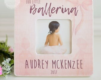 Our Little Ballerina Personalize Frame Little Girl