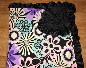 Flower Minky Baby Blanket